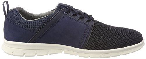 Uomo Graydon Nubuck Leather Fabrix 019 Blu Scarpe Oxford Black Stringate Timberland Iris And PAn1PB