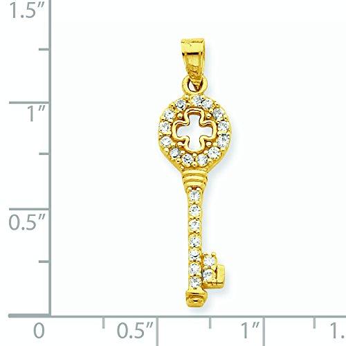 10 k Pendentif clé CZ-Doré Grade supérieur à JewelryWeb or 9 carats