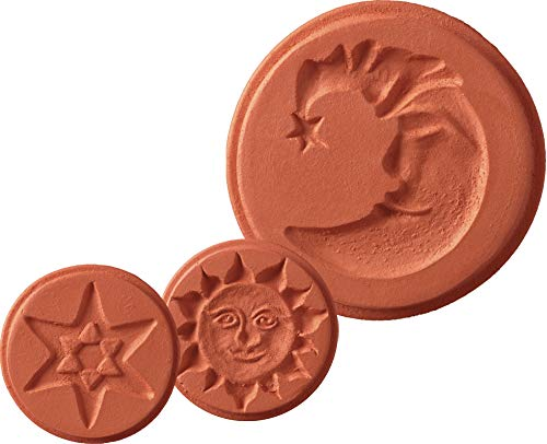 (JBK Pottery Terra Cotta Cookie Stamps (3 Piece Sky Set))