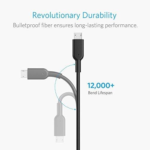 Anker PowerDrive 2 Elite Chargeur de Voiture 2 Ports USB 24W avec c/âble Micro USB int/égr/é Note et Autres LG Noir Chargeur Allume Cigare avec Technologie PowerIQ pour Galaxy S
