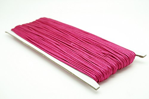 FUCHSIA 3mm Polyester Soutache Braid Cord String Beading Sewing Quilting Trimming - 30 ()