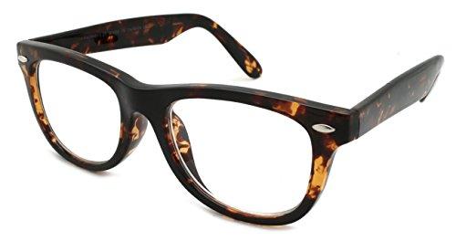 Edge I-Wear Vintage Horned Rim Flexible Frame Readering Glasses for Women Men Readers 3.25 -