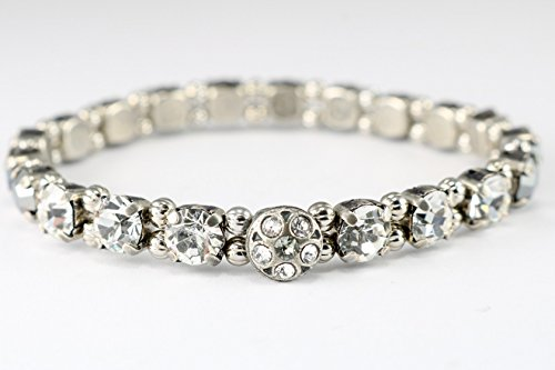 Black Tie Crystal Stretch Bracelet, A dainty bracelet that will add gleam to anything you pair it with. Easy On, Easy Off!