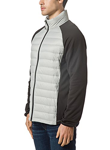 XPOSURZONE Soft Fleece Down Jacket Men Mixed Media Down jacket ...