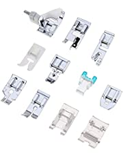 Sewing Machine Presser Feet Set 12 Pcs for Brother, Babylock, Singer, Janome, Elna, Toyota, New Home, Simplicity, Necchi, Kenmore, and White Low Shank Sewing Machines