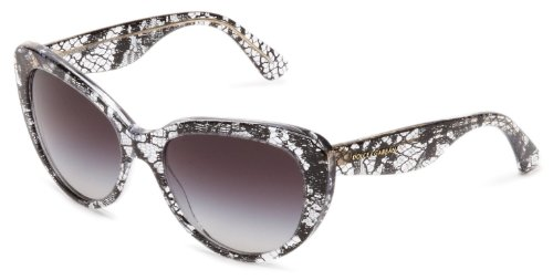 D&G Dolce & Gabbana 0DG4189 19018G54 Cat-Eye Sunglasses,Black Lace,54 - Eye D&g Cat Sunglasses