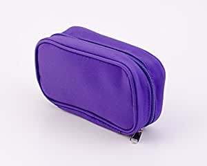 Essential Oil Travel Bag - Holds 10 5ml-15ml Vials - Perfect Essential Oils Case for Travel - Fits Easily in a Purse or Makeup Bag (Purple)
