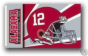 Alabama Crimson Tide Helmet Flag 3'x5' NCAA Banner