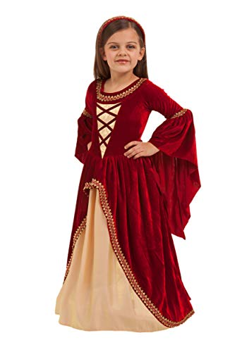Princess Paradise Girls Alessandra The Crimson Princes Costume, As Shown, Medium -
