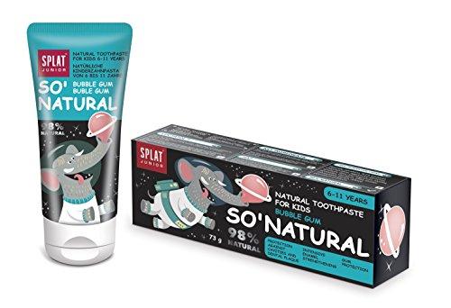 SPLAT JUNIOR Natürliche Zahnpasta Bubble Gum für Kinder von 6-11 Jahren 55ml
