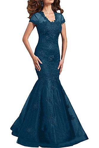 Abendkleider Brautmutterkleider Langes Dunkel Festlichkleder Dunkel Braut Blau Fuchsia Ballkleider mia Meerjungfrau La Figurbetont q8SwYB