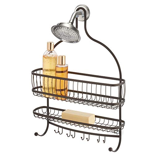 Best Review Of iDesign York Metal Wire Hanging Shower Caddy, Extra Wide Space for Shampoo, Condition...