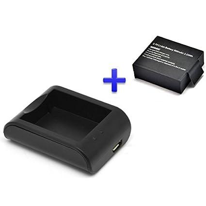 Theoutlettablet® Cargador externo para cámara deportiva DV SJCAM SJ4000 SJ5000 Sport Cam - Excelvan - Elephone - Topjoy - Qumox - Topop - VicTsing - ...