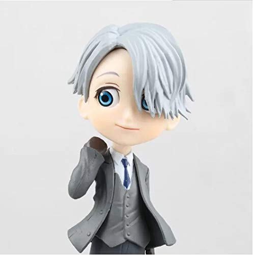 AMrjzr Yuri on Ice Q Version Big Eye Yuri Prisetvik Tony Kiforov Figura Figura-1 Estilo-10CM