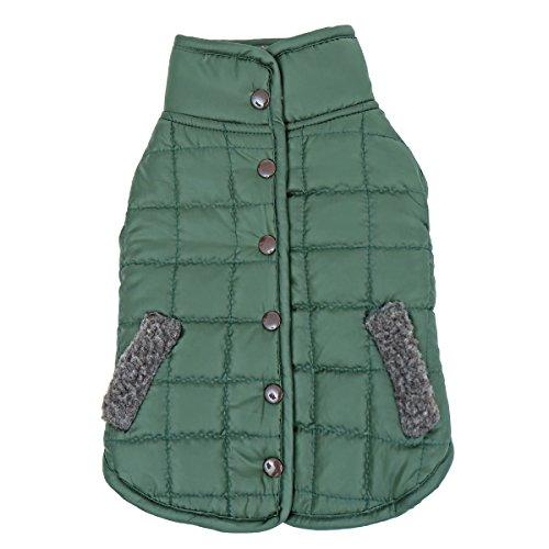 Reversible Fleece Dog Jacket (Speedy Pet Reversible Dog Clothes Winter Warm Comfortable Fleece Costumes Jacket Pet Coat Dark Green XL)