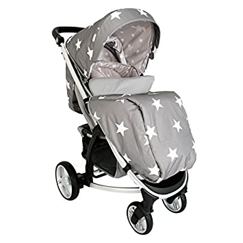 Mi Babiie dreamiie Billie Faiers MB200, estrellas carrito de bebé, color gris: Amazon.es: Bebé
