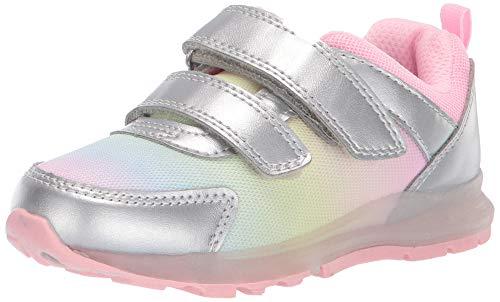 carter's Girl's Drew Metallic Light-Up Sneaker, Multi, 7 M US Toddler