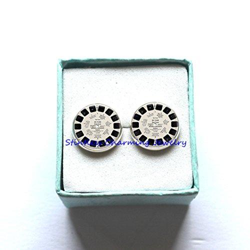 ViewMaster Lens Earrings Jewelry, Fine Art Earrings Jewelry, View Master Photo Jewelry Glass Earrings Gift, View Master, - Master Image Glasses