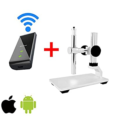 Vividia Handheld Digital Borescope Microscope for iPhone/iPad/Android/PC with Professional Multi-functional Metal Stand