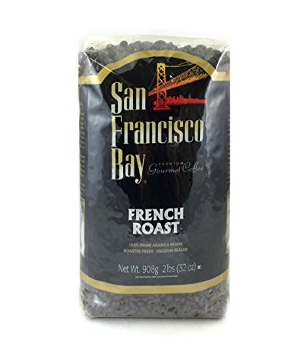San Francisco Bay Coffee Whole Bean, French Roast, 32 Ounce (Pack of 2) (Best Coffee Beans In San Francisco)