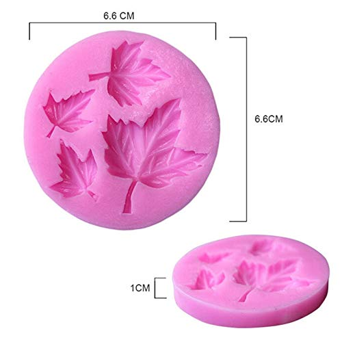 Vistaric Good Quality Leaf Shape Silicone 3D Flower Mold Fondant Cake Decorating Tools, Four Colors Mould, Silicone Soap Mold New: Pink