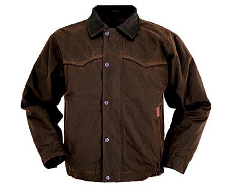 Outback Trading CO Men's CO. Oilskin Jacket Bronze Small (Bronze Mens Jacket)