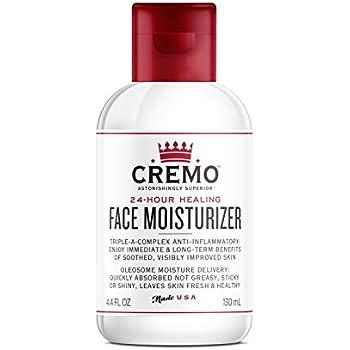 Cremo Face Moisturizer, Astonishingly Superior 24 Hour Face Moisturizer, 4.4 Fluid Ounce