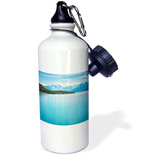 3dRose DanielaPhotography - Landscape, Nature - The turquoise waters of Lake Tekapo in New Zealand. - 21 oz Sports Water Bottle (wb_281989_1) by 3dRose