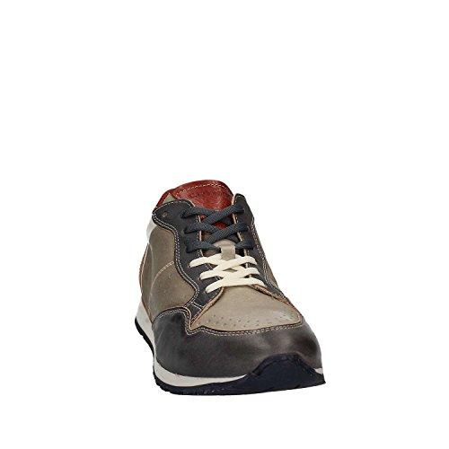 Lacci CafèNoir Grigio Uomo Pelle Scarpe Cafè PB121 2327 Avio Noir Sneakers Grigio Avio UqrwzUI