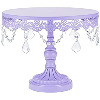 Sophia Collection  Metal Cake Dessert Stand with Crystal Beads and Dangles 10  Diameter Plate (Lavender)  sc 1 st  Amazon.com & Amazon.com | Jocelyn Collection 12 Inch Lavender Purple Cake Stand ...