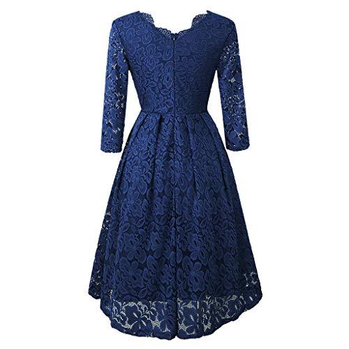 Price comparison product image Keliay Bargain Women Cross Double V-Neck Large Hem Dress Long Sleeve Lace Dress