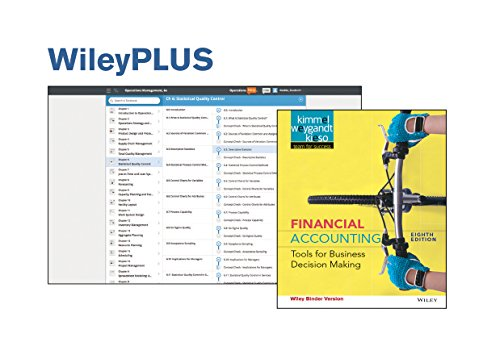 Bundle: Financial Accounting: Tools For Business Decision Making 8e Binder Ready Version + WileyPLUS Access Code