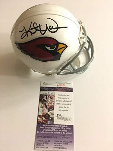 Kurt Warner Autographed Signed Memorabilia Arizona Cardinals Mini Helmet HOF JSA Coa
