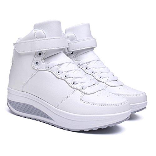 para Otra JRenok deporte 35 Piel de blanco mujer Zapatillas de nOOq7vaf