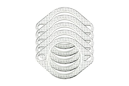"""CarXX 2.5"""" Exhaust Gasket 2-Bolt 62mm Flange High Temperature Graphite for Headers, Catback, Axleback, Downpipe (5 Pack)"""
