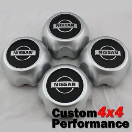 New 2000-2004 Nissan Xterra Frontier Wheel Center Hub Cap 40315-7Z100 SET of 4 (Hub Executive)