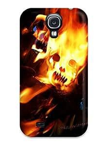 ENHIzVI1265SZKkm Faddish Colorful Fire Skull By Miku Dwa Case Cover For Galaxy S4