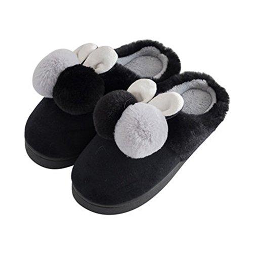 1 Pantofole Cotone Spessa Scarpe Pattern Con Inverno Puro Borsa Calde Invernale In OAOCqxra