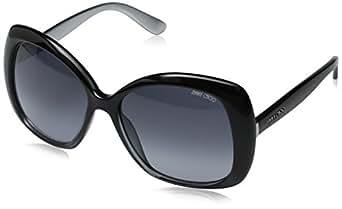 JIMMY CHOO Sunglasses MARTY/S 02Oz Black Gray Glitter 57MM