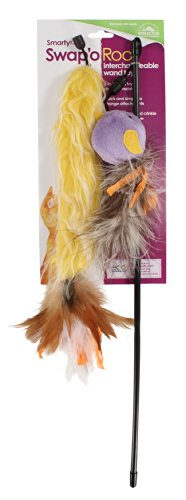 SmartyKat Swap'o Roo Cat Toy Wand with Two Interchangeable A