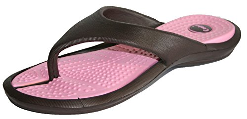 Brown Coolers Post Toe Flip Sandal Shoe Pool Ladies EVA Flop 11zxEwrPq