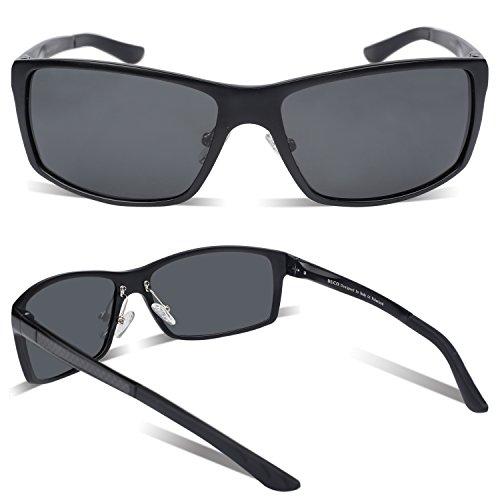 Incassable 100 homme de en Lunettes polarisées conduite Noir soleil métal anti sport de de monture avec 8202 Lunettes Duco Lunettes UV400 ZFqpaaw