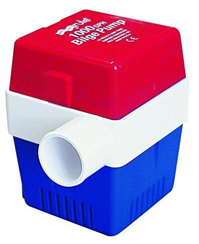 (Rule 20A Marine Rule 1000 Square Marine Bilge Pump (1000-GPH, 12-Volt) , Red/White/Blue)