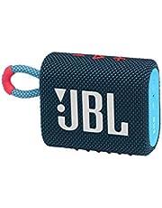 JBL GO 3 małe pudełko Bluetooth w kolorze niebieskim i różowym – wodoodporny, przenośny głośnik do podróży – do 5 godzin odtwarzania przy jednym naładowaniu akumulatora