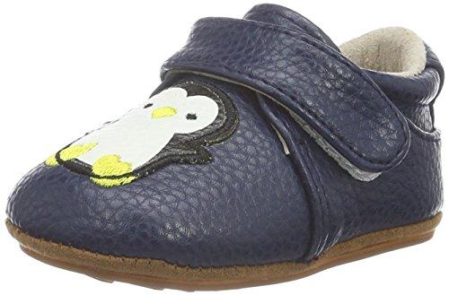 Rose & Chocolat Rcm 1052 - Botas de senderismo Bebé-Niñas Blau (Happy Penguin Navy)