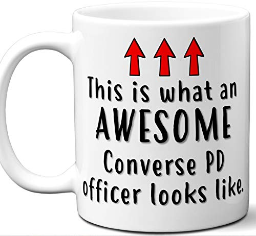 Police Officer Gifts. Funny Unique Converse PD Officer Mug. Men Women Valentines Academy Graduation Retirement Valentines Day Personalized Christmas Birthday. -
