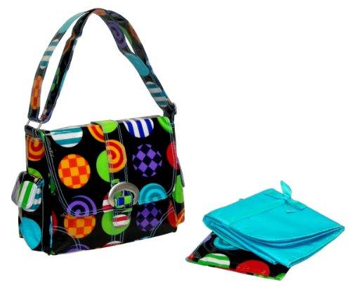 """Kalencom - bolsa para pañales, piezas bolsa de pañales, baberos, bolsa bolso de la madre, la bolsa con cinta recubierta, razón """"Pétalos"""" Rock N Roll"""