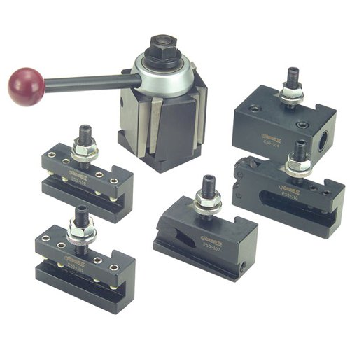 PHASE II 6 Piece Quick Change Tool Post Set - Model .: 100 WST LATHE SWING : 9''- 12'' by PHASE II