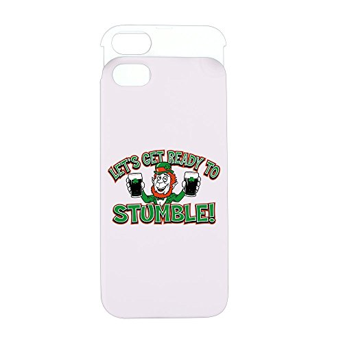 iPhone 5 or 5S Wallet Case Pink and White Ready To Stumble Irish Shamrocks
