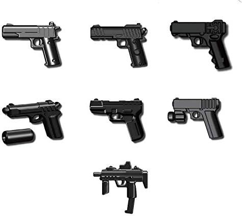LEGO Lot of 10 Black Nozzle Gun Minifigure Weapons
